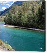 Colorful Skagit River Acrylic Print