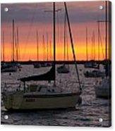 Colorful Skies At This Harbor Acrylic Print