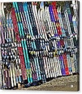 Colorful Snow Skis Acrylic Print