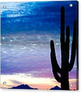 Colorful Southwest Desert Sunrise Acrylic Print