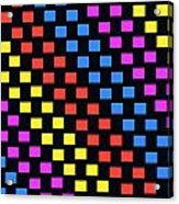 Colorful Squares Acrylic Print by Louisa Knight