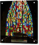 Colorful Stained Glass Chapel Window Acrylic Print