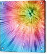 Colorful Starburst Tie Dye  Acrylic Print