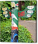 Colorful Totem Acrylic Print