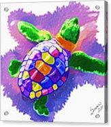 Colorful Turtle Acrylic Print