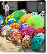 Colorful Umbrellas Acrylic Print by John Wong
