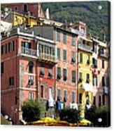 Colorful Vernazza Acrylic Print