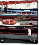 Colorful Wooden Boats Acrylic Print