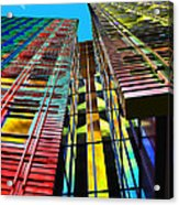 Colors In The City With Clouds Acrylic Print