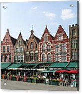 Colors Of Brugge Acrylic Print