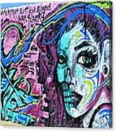 Colors Of Graffiti Acrylic Print