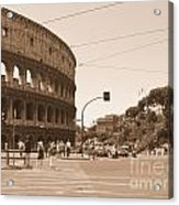 Colosseum In Sepia Acrylic Print