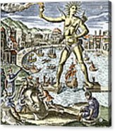 Colossus Of Rhodes Statue Acrylic Print