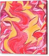 Colour Me Pink Yellow 'n Red Acrylic Print