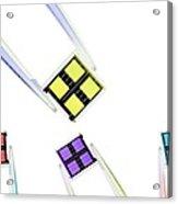 Coloured Microchips Acrylic Print