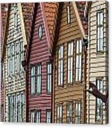 Colourful Houses In A Row Bergen Norway Acrylic Print
