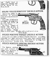 Colt Revolvers Acrylic Print