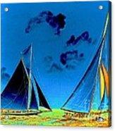 Columbia And Shamrock II Finish 1901 Acrylic Print
