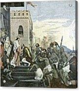 Columbus' Return From The Americas Acrylic Print