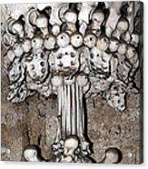 Column From Human Bones And Sku Acrylic Print