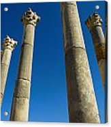 Column In Capitol In Ancient Roman City Acrylic Print