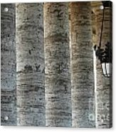 Columns And Hanging Lamp Acrylic Print