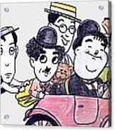 Comedians In Model T Acrylic Print