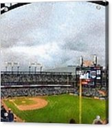 Comerica Park Home Of The Detroit Tigers Acrylic Print