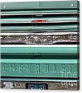Coming Or Going--still A Chevy Acrylic Print by David Bearden