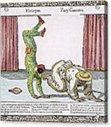 Commedia Delarte, 18th C Acrylic Print