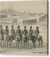 Commemorative Print Depicting Execution Acrylic Print by Everett
