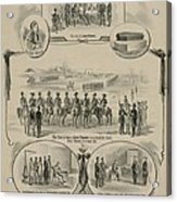 Commemorative Print Depicting The Trial Acrylic Print by Everett