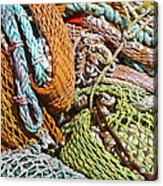Commercial Fishing Nets And Rope Acrylic Print