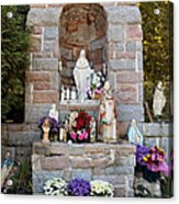 Comparison Mother Mary Shrine Acrylic Print