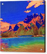 Complementary Mountains Acrylic Print