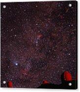 Composite Image Of Halley's Comet & Mauna Kea Acrylic Print