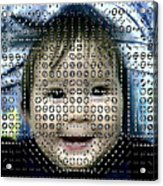 Computer Analysis Of A Smile On A Baby's Face Acrylic Print by Institute For Neural Computation, University Of California