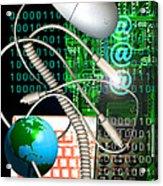 Computer Artwork Of Internet Communication Acrylic Print