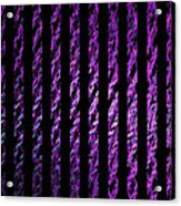 Computer Generated Magenta Abstract Fractal Flame Black Backgroud Acrylic Print