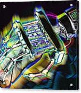 Computer Mouse And Robot Hand Acrylic Print