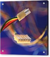 Computer Power Cables Acrylic Print