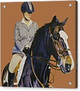 Concentration - Hunter Jumper Horse And Rider Acrylic Print