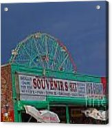 Coney Island Facades Acrylic Print