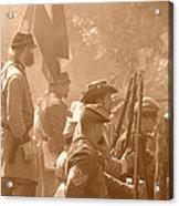 Confederate Breastworks Carnifex Ferry Acrylic Print by Thomas R Fletcher