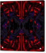 Conjoint - Crimson And Royal. Acrylic Print by Christopher Gaston