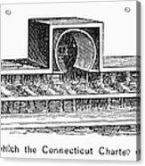 Connecticut: Charter Box Acrylic Print