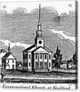 Connecticut: Church, 1836 Acrylic Print