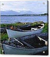 Connemara, Co Galway, Ireland Boats Acrylic Print