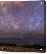 Constellations In A Night Sky Acrylic Print