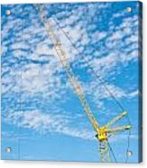 Construction Crane Acrylic Print